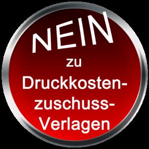 """Logo """"Nein zu Druckkostenzuschussverlagen"""""""