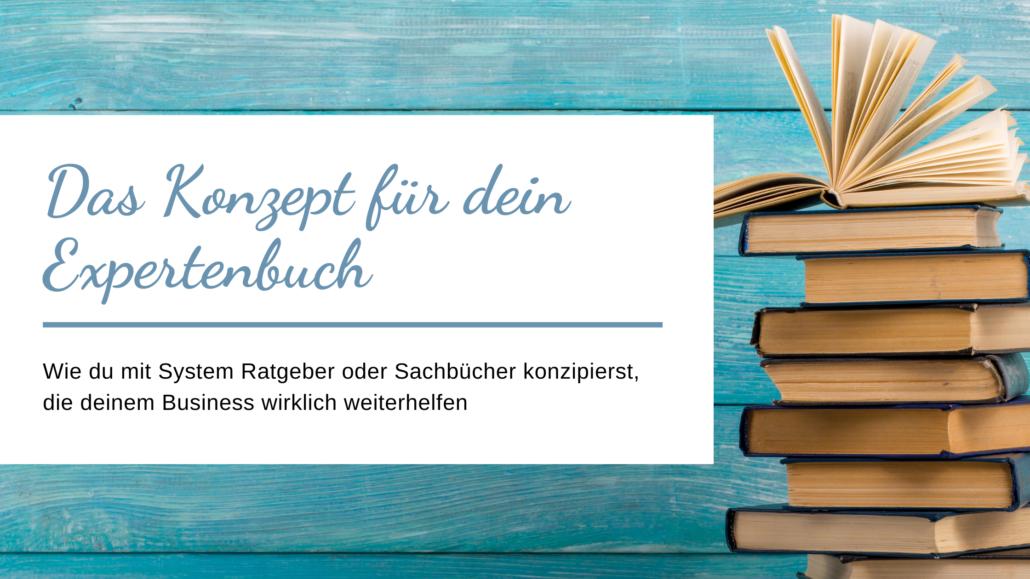 Buchkonzept für Ratgeber und Sachbücher